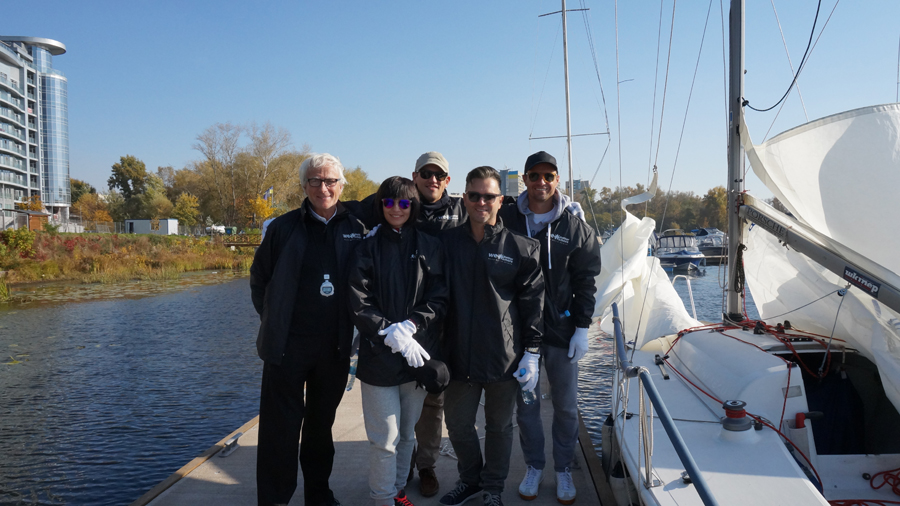 Sailing with Phil and the team